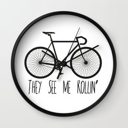 They See Me Rollin' Bicycle - Men's Fixie Fixed Gear Bike Cycling Wall Clock
