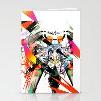 mask Stationery Cards featuring Mask  by Irmak Akcadogan