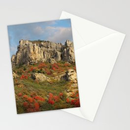 Rock Outcropping in the fall Stationery Cards