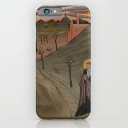 Master of the Osservanza Triptych - Saint Anthony Abbot Tempted by a Heap of Gold iPhone Case