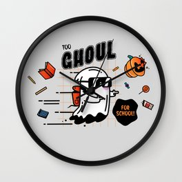 Too Ghoul for School! Wall Clock