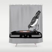 dj Shower Curtains featuring DJ magpie by tonadisseny