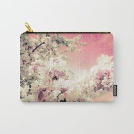 Pink Lavender Flowers Carry-All Pouch