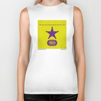 toy story Biker Tanks featuring No190 My Toy Story minimal movie poster by Chungkong