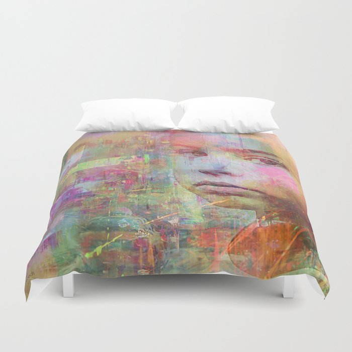 grow up in city Duvet Cover
