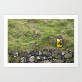 Phone in the Mountain Side Art Print