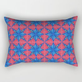 stelle blu su fondo rosso Rectangular Pillow