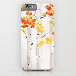 Autumn Birch Song iPhone Case