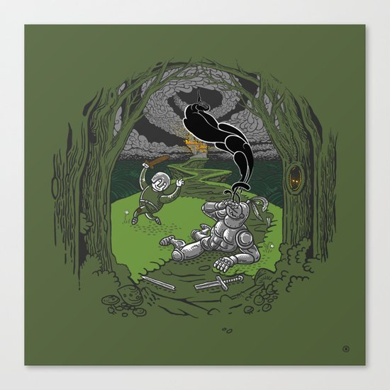Happy Knight Canvas Print