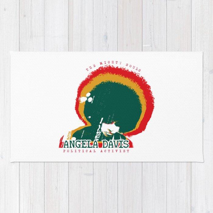 Angela Davis Rug By Menta Society6