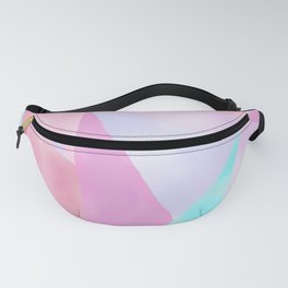Geometrical Pink Lilac Teal Watercolor Hand Painted Pattern Fanny Pack