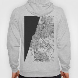 Tel Aviv Map Gray Hoody