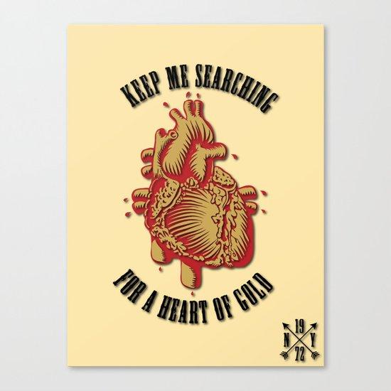 """Heart of Gold""  (""ANALOG zine"") Canvas Print"