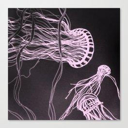 Jelly Swim Canvas Print