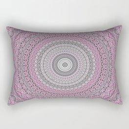 Bohemian Mauve Grey Mandala Rectangular Pillow