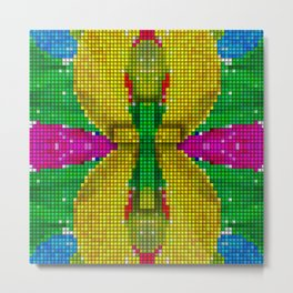 Cross Art - (God is always Colorful) Metal Print