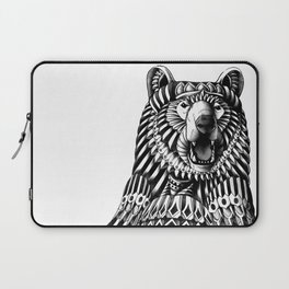 Ornate Grizzly Bear Laptop Sleeve