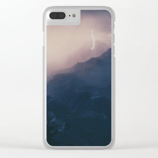 Lightning Crashing Clear iPhone Case