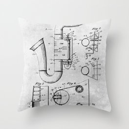 Toy Saxophone Throw Pillow