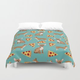 chihuahua pizza dog lover pet gifts cute pure breed chihuahuas Duvet Cover