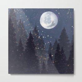 Full Moon Landscape Metal Print