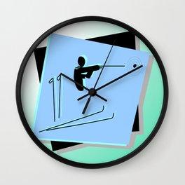 Biathlon silhouettes  Wall Clock