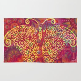 Psychedelic Butterfly Rug