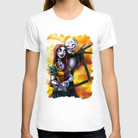 jack skellington T-shirts featuring Jack Skellington With Sally Figurine by Andrian Kembara