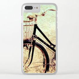 Black Bike Clear iPhone Case