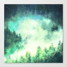 Galaxy Forest 2 - Stars and Space Trees Canvas Print