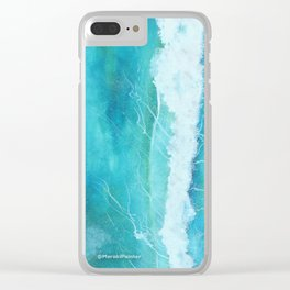First Ocean Wave. Clear iPhone Case