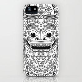 Barong / Balinese mask / Bali mask #3 iPhone Case