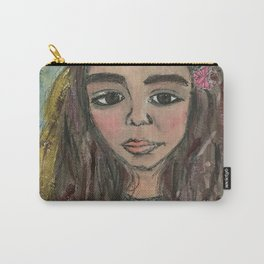 Abstract NAil Polish Painting of Rowan Blanchard Carry-All Pouch