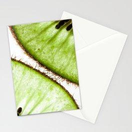 Macro photo of kiwifruit Stationery Cards