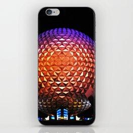 Night Spaceship Earth iPhone Skin