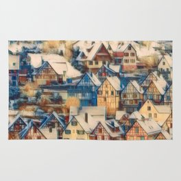 Rustic Winter Scene B Rug
