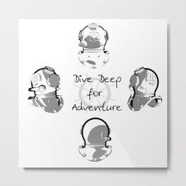 Dive for Adventure Metal Print
