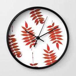 Rowan Leaves Wall Clock