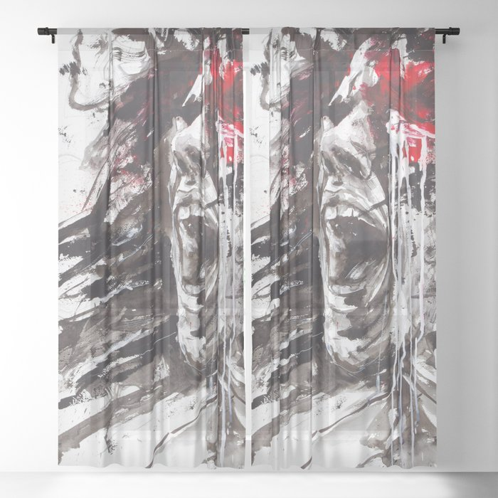 The Pain of Cluster Headache Sheer Curtain by artecluster