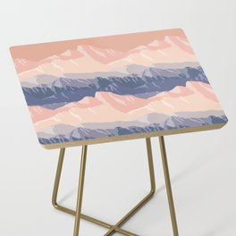 Mountain Sunset Side Table