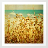 A Day at the Beach Art Print