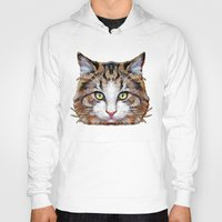 meow Hoodies featuring MEOW by Ancello