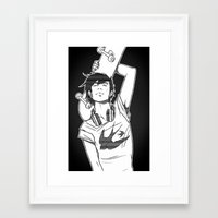 skateboard Framed Art Prints featuring SKATEBOARD by FISHNONES