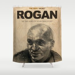 Portrait of the Powerful Joe Rogan Shower Curtain