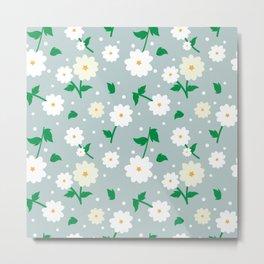 daisies in the garden Metal Print