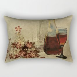 Wine And Wildflowers Rectangular Pillow