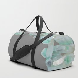GEMMY CRYSTALS GREY ART Duffle Bag