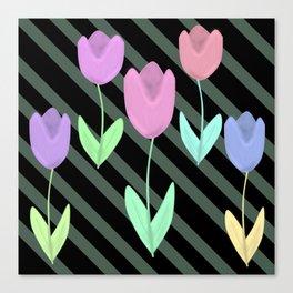 Tulip flowers pattern  Canvas Print