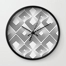 Black and light gray art Deco . No. 59 Wall Clock