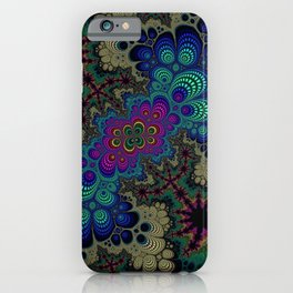 Peacock Fractal iPhone Case
